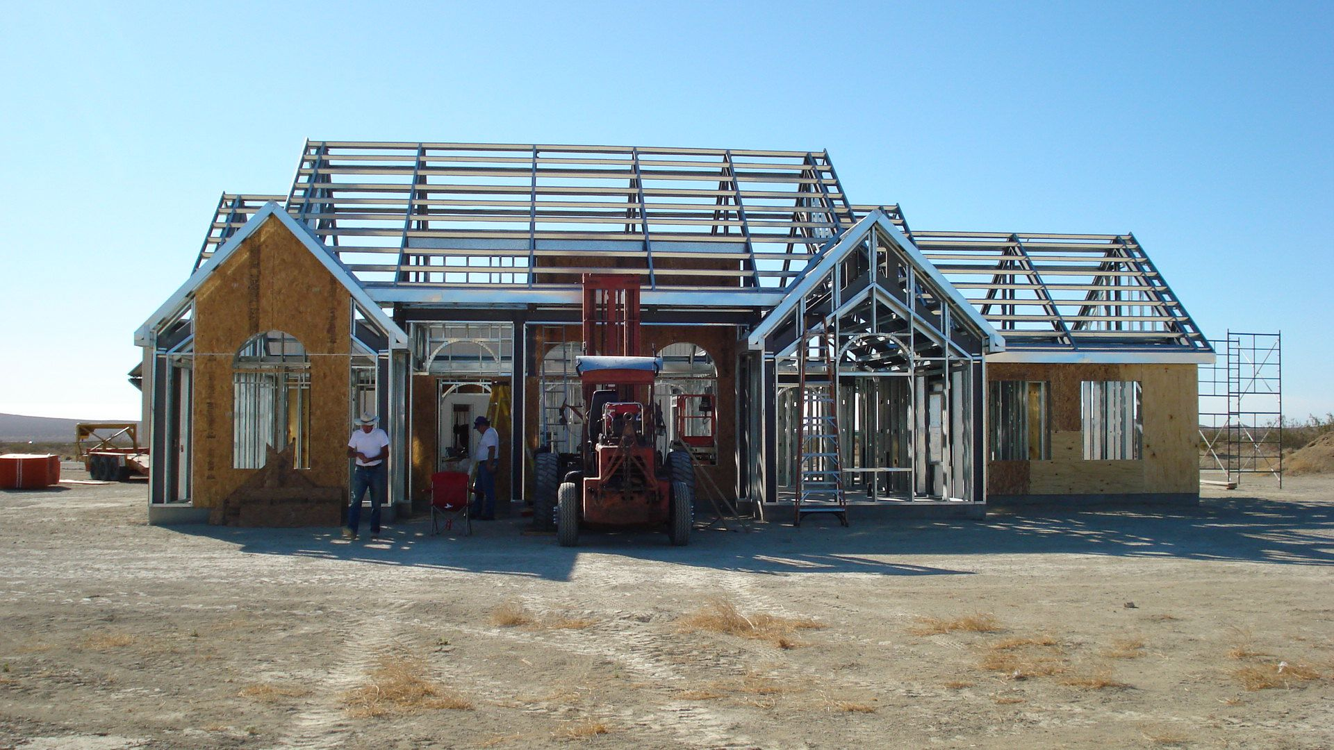 As Fire Season Approaches, It's a Smart Choice for Homes to Use Steel Frame Designs.